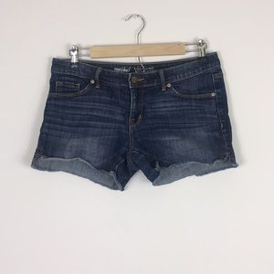 Mossimo Mid-Rise Midi Jean Shorts